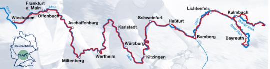 Streckenführung des Main-Radweg
