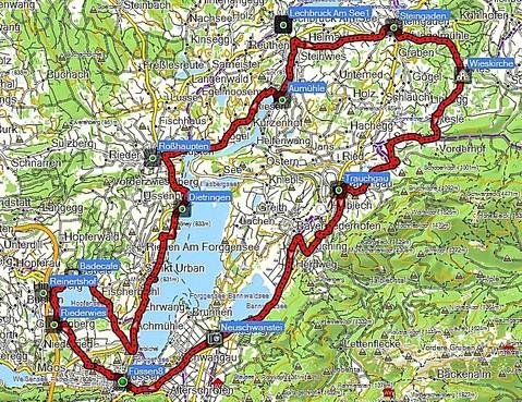 Allgäu-Runde, Wies - Füssen - Hopfensee - Forgensee - Steingaden