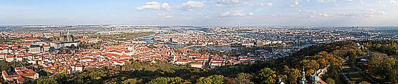 Prag - Blick vom Petřín Richtung Osten