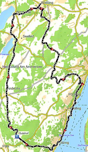 Routenführung 5-Seen-Runde