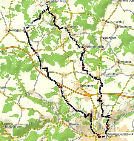 Streckenführung Entlang der Schwäbischen Eisenbahn