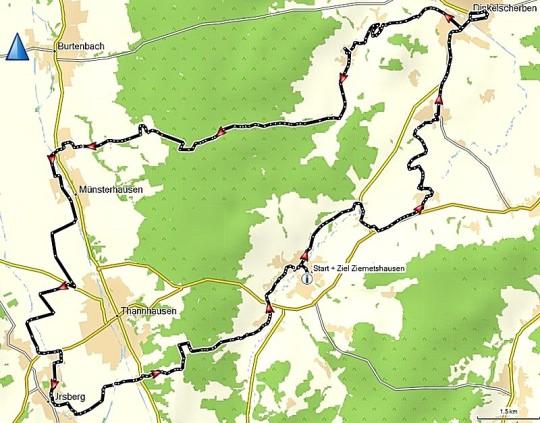 Donautal-Radlspass Ziemetshausen, Streckenführung