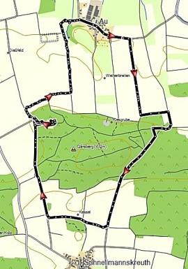 Route Pilgerweg St. Ottmar im Wittelsbacher Land