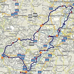 Tourverlauf Nördliches Elsass