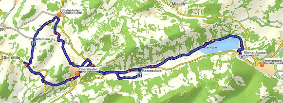 Tourenverlauf Artemisia Kräutergarten