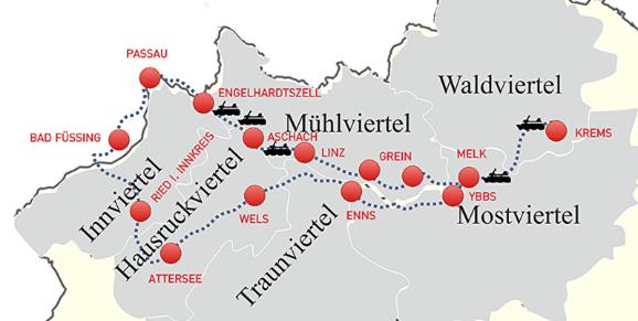 Römerradweg Österreich Etappenplan